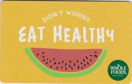 GIFT CARD - USA - WHOLE FOODS-034 - WATERMELON - Gift Cards