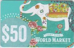 GIFT CARD - USA - WORLD MARKET-033 - ELEPHANT - Gift Cards