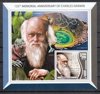 Sierra Leone 2017**,  135. Todestag Von Ch. Darwin, Kaktus / Sierra Leone 2017, MNH, 135th Memorial Ann. Of Ch. Darwin - Sukkulenten