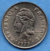(r65) FRENCH POLYNESIA / POLYNESIE  20 Francs 1975  Km#9 - French Polynesia