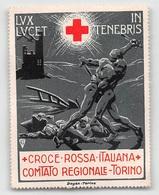 """07882 """"LUX LUCET IN TENEBRIS - CROCE ROSSA ITALIANA - COMITATO REGIONALE TORINO"""" ERINNOFILO NON APPLICATO - Erinnofilia"""