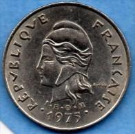 (r65) FRENCH POLYNESIE  10 FRANCS 1975  IEOM - French Polynesia