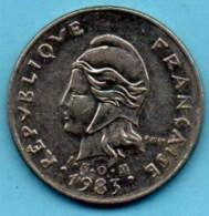 (r65) FRENCH POLYNESIA / POLYNESIE  10 Francs 1983  Km#8 - French Polynesia
