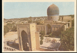 Samarkand -- Gur Amir -- Entrance  Portal And Mausoleum - Uzbekistan