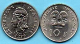 (r65)  FRENCH POLYNESIA / POLYNESIE  10 Francs 1979 - French Polynesia