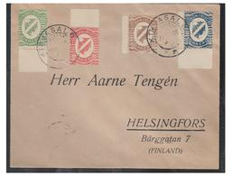 RUSSIE/FINLANDE -- INGRIE -- REPUBLIQUE DE KIRJASALO -- LETTRE A DESTINATION DE HELSINGFORS/HELSINKI --1920 - Russia & USSR