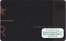 GIFT CARD - STARBUCKS - JAPAN - 6154 - RESERVE - 2016 - Gift Cards