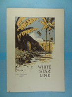 White Star Line A Pool Near Biskra Algiers M.V.Britannic Januari 29th 1933 - Menus