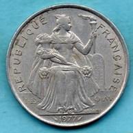 (r65)  FRENCH POLYNESIA / POLYNESIE  5 Francs 1977  Km#12 - French Polynesia