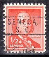 USA Precancel Vorausentwertung Preo, Locals South Carolina, Seneca 801 - Vereinigte Staaten