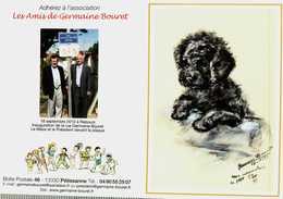 Petit Calendrier De Poche   2011   -  Germaine Bouret    CHIEN Caniche - Calendarios