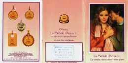 Petit Calendrier De Poche   3 Volets -  Médaille D'Amour Poème De Rosemonde Gérard  Bijoutier à Reims - Calendars