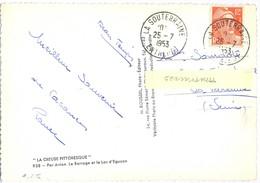 CREUSE : LA SOUTERRAINE ENTREPOT TàD 25-7-1953 - Cachets Manuels
