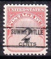 USA Precancel Vorausentwertung Preo, Locals South Carolina, Summerville 853 - Vereinigte Staaten