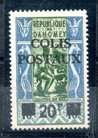Colis Postaux N°3A ** Neuf Sans Charniere Timbre Rare Cote 130 E Net 35 E - Bénin – Dahomey (1960-...)