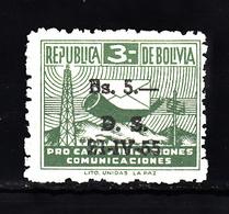 Bolivia 1955 Mi Nr  21 Toeslag Postfris, Met Opdruk 5 Op 3 - Bolivië