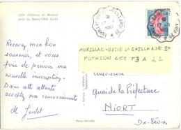 CONVOYEUR AURILLAC-BRIVE LAGAILLARDE 2° * TàD 17-8-1961 POTHION 468 TYPE III ALLER - Poste Ferroviaire