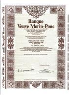 69-BANQUE VEUVE MORIN-PONS. LYON. Obligation 1983 - Shareholdings