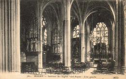 D77  MELUN  Intérieur De L'Église Saint Aspais - Côté Gauche - Melun