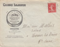 LETTRE 1927. CACHOU LAJAUNIE TOULOUSE - Advertising