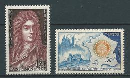FRANCE 1955 . N°s 1008 Et 1009 . Neufs ** (MNH) - Nuovi