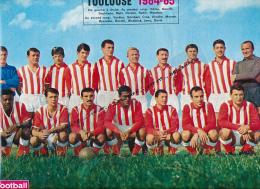 FOOTBALL : PHOTO, TOULOUSE 1964-1965, L'EQUIPE, BARAFFE, REDIN, MAHI, DEVIS, BRUNETON, MOUTHON... COUPURE REVUE (1964) - Autres