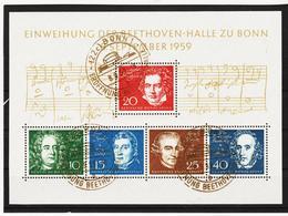 ORY204 DEUTSCHLAND BRD 1959  Michl BLOCK 2 STEMPEL Vom ERSTTAG 8.9.1959 SIEHE ABBILDUNG - Gebraucht