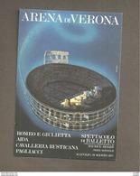 ARENA DI VERONA SPETTACOLO DI BALLETTO STAGIONE 1977 PRIMA MONDIALE  CARTOLINA NON VIAGGIATA - Tanz