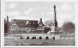 Crewe - South African War Memorial, With Pavilion, Queen's Park - England