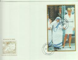 MOTHER THERESA - NIGER - 1997 MOTHER THERESA & DIANA SOUVENIR SHEET   ON   ILLUSTRATED FIRST DAY COVER - Mother Teresa