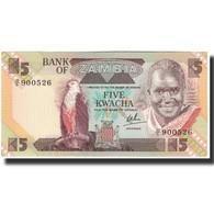 Billet, Zambie, 5 Kwacha, 1980, KM:25c, NEUF - Zambia