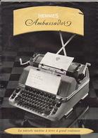 Brochure Machine à écrire Hermes - Paillard Yverdon Suisse En 4 Pages - Publicités