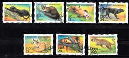 Madagaskar 1994 MI Nr 1701 - 1707 , Roofdieren, Animal, Panter, Vos, Wolf, Leeuw , Panther, Fox, Wolf, Lion - Madagaskar (1960-...)