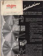 5 Documents Wintgens Eupen Scie Scierie Lame Couteau - Publicités