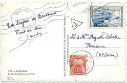 CARTE POSTALE 1954 AVEC 1 TIMBRE TAXE - Portomarken