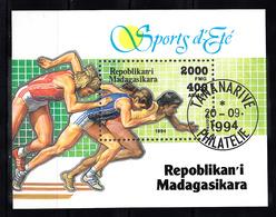 Madagaskar 1994 MI Nr Blok 262 , Olympische Sporten: Sprint - Madagaskar (1960-...)
