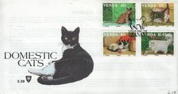 VENDA - FDC 1993 -CATS-  Mi #250-253 - Venda
