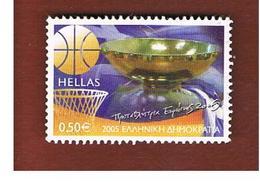 GRECIA (GREECE) - YV. 2292  -   2005 GREECE EUROPEAN CHAMPION BASKETBALL                -  USED ° - Gebraucht