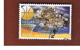 GRECIA (GREECE) - YV. 2293  -   2005 GREECE EUROPEAN CHAMPION BASKETBALL                -  USED ° - Gebraucht