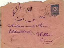 1903-  Enveloppe E P  De MASRATA Pour La Tunisie -transit Par Tripoli - Libya