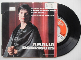 45  EP - AMALIA RODRIGUES - ESQUINA DE PECADO/ A CHAVE DA MINHA PORTA/CONTA ERRADA/CAMPINOS DO RIBATEJO - Vinyl Records