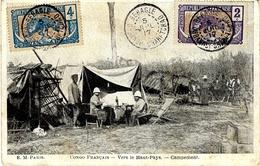 1917- C P A Du Congo Affr. à 6 C. Oblit. BEHAGLE  ( Oubangui-Chari-Tchad ) Ed. E M - Lettres & Documents