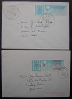 1985 Lot De 2 Lettres Avec Affranchissement Distributeur P.N.U : Voir Photo - 1985 Papier «Carrier»