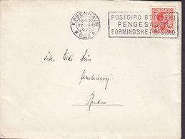 Denmark Slogan Flamme 'Postgiro' KØBENHAVN Omk. 1926 Cover Brief RANDERS 20 Øre Chr. X. Stamp - 1913-47 (Christian X)