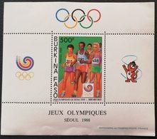 Burkina Faso 1988 Summer Olympics Seoul  S/S  POSTAGE FEE TO BE ADDED ON ALL ITEMS - Burkina Faso (1984-...)