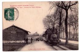 1752 - Mareau-Saint-Fiacre ( Loiret ) - La Gare ( Arrivée Du Train D'Orléans ) - Receveur Buraliste édit. - - France