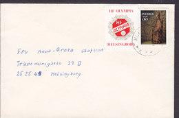Sweden HELSINGBORG 1975? Cover Brief Locally Sent 'HF OLYMPIA' Football Vignette - Briefe U. Dokumente
