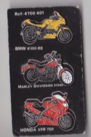 PIN'S   THEME MOTOS LOT DE 3 PINS BMW K 100,  HARLEY DAVIDSON, HONDA VFR 750 - Motorbikes