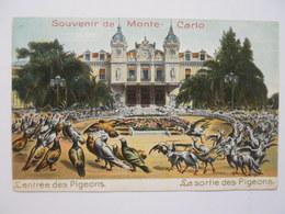 Souvenirs De Monte-Carlo - L' Entrée Des Pigeons - La Sortie Des Pigeons - Monaco
