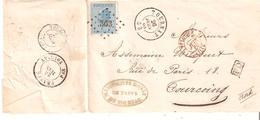L. En Port FRONTALIER TP.18 LP363/TOURNAY 20/6/68 V/TOURCOING + DC FRANCE Par TOURNAY TB - 1865-1866 Profile Left